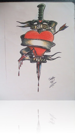 HEART WITH DAGGER TATTOO