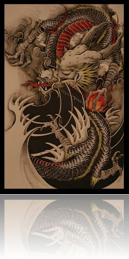 Chinese dragon tattoo design II Chinese dragon tattoo