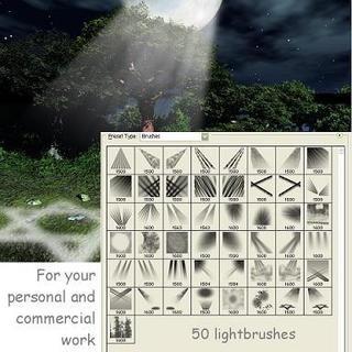 photoshop light brushes