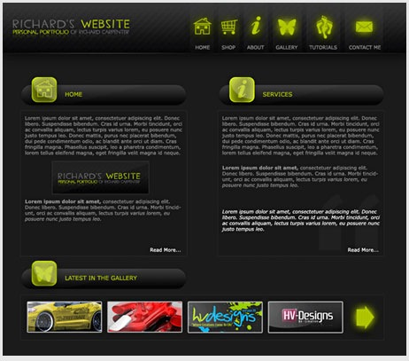 Cool Dark website Design
