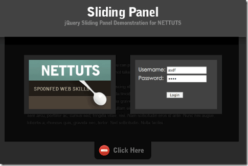 40 beautiful Sliding Login Panel with jQuery Demos