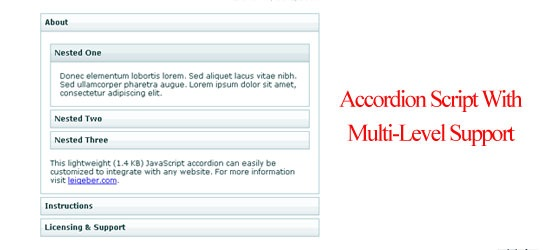 Accordion Script With Multi-Level Support