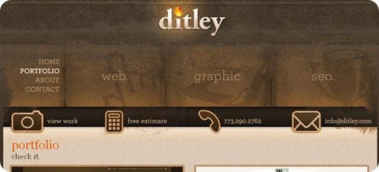 Design Portfolios Online Portfolios Ditley