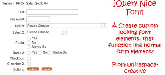 jQuery-Nice-Form