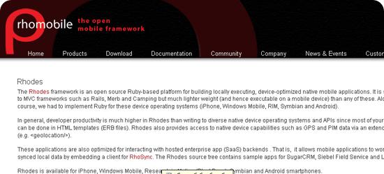 Rhodes-Mobile-framework