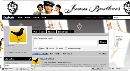 Theme for Facebook - Jonas Brothers