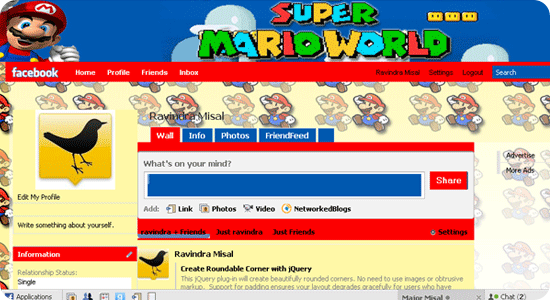 Super-Mario-facebook-theme
