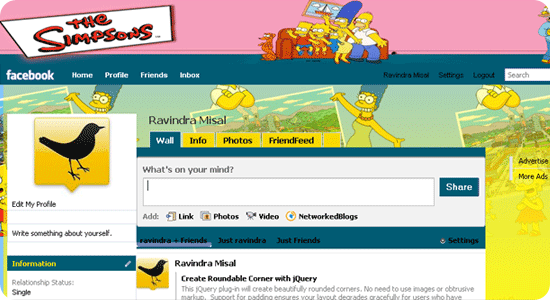 The-Simpsons-facebook-theme