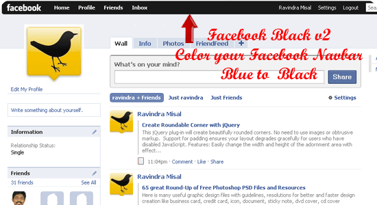 Trick To Install/Change Themes on Facebook with Stylish