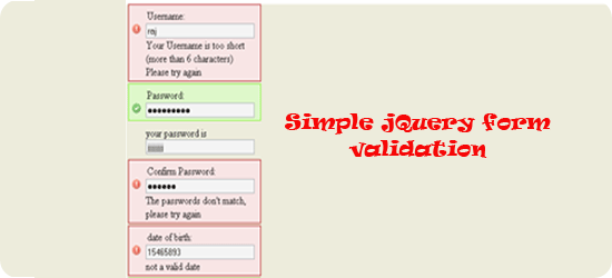 Simple-jQuery-form-validati