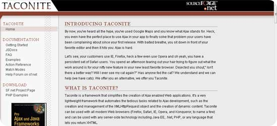 Taconite---Ajax-framework