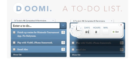 Doomi - A To-Do List Application