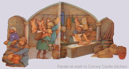 Panter at work in Conwy Castle kitchen