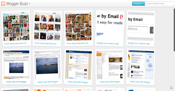 Blogger Snapshot view