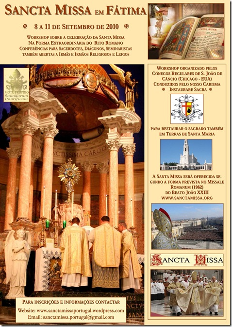FATIMA - SANCTA MISSA - 2010 - POSTER