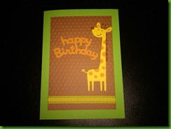 Giraffe bday card