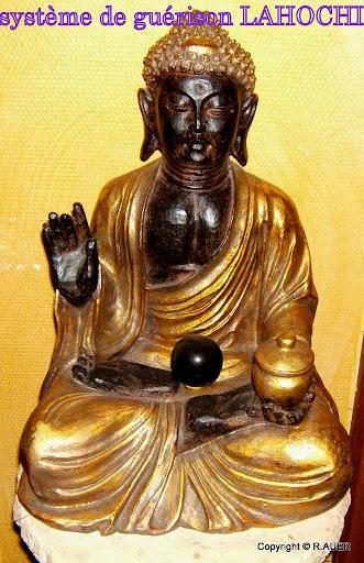Bouddha doré Obsidienne dorée