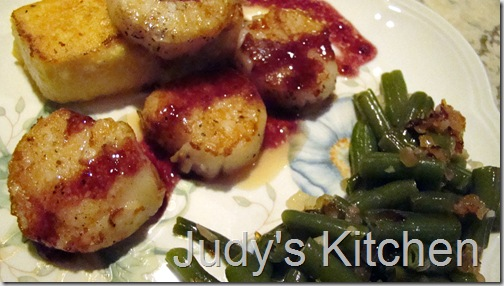 rasp scallops n grits