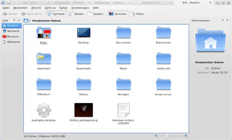 KDE SC 4 4 mehrere Anwendungen in einem Fenster als Tabs verbunden