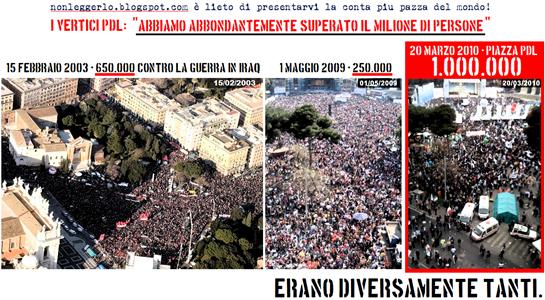 Manifestazione Pdl Alto - Nonleggerlo