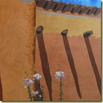 MarthaWolfe_Hollyhocks at the Santa Fe Museum of Art