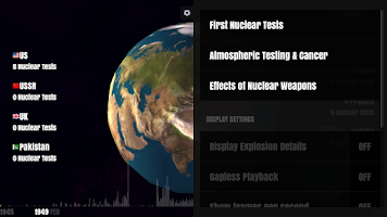 Screenshot of Worldwide Nuclear Explosions