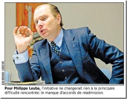 Philippe Leuba renvoi criminels étrangers