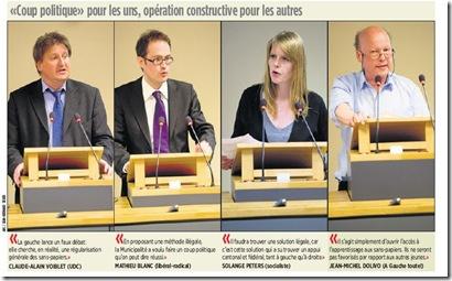 Lausanne réactions apprentissage sans-papiers