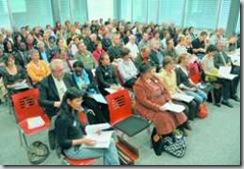 Conférence pour l'intégration des migrants, Granges-Paccot, Fribourg (photo: Alain Wicht)