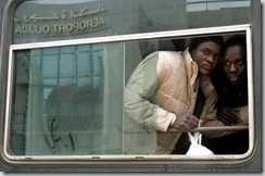 Candidats africains à l'immigration au Maroc en 2005. Photo Andrea Comas/Reuters