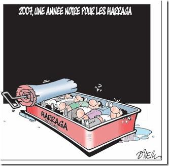 2007: année noire pour les harraga. Dessin de Dilem