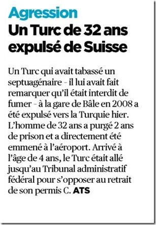 expulsion turc agression