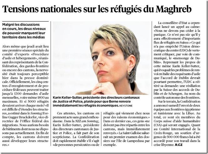suisse tension réfugiés maghreb