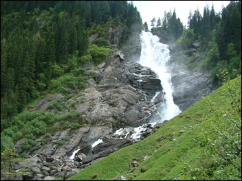 De waterval in Krimml (Oostenrijk)