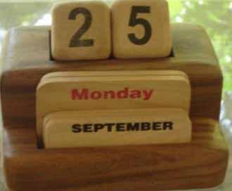 wooden calendar.