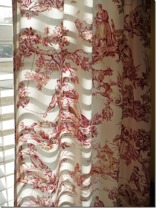 morning light through toile curtains