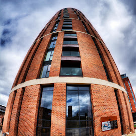 Candle House by Simon Pickles - Buildings & Architecture Office Buildings & Hotels ( candle, leeds, fisheye, 7d, hdr, house )