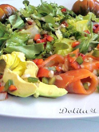 Comida francesa comida ensalada de salmon y aguacate - Ensalada salmon y aguacate ...