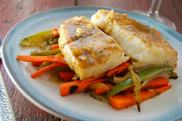 Grilled Sea Bass in Lime-Garlic Sauce with Lemon Veggie Base Recipe ...