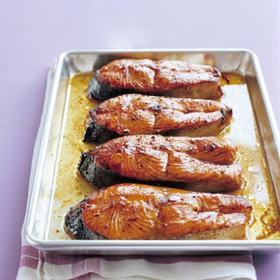 Salmon Steaks With Hoisin Glaze