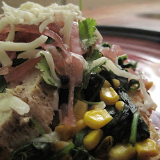 Pork Sirloin with Corn and Green Onion Cakes