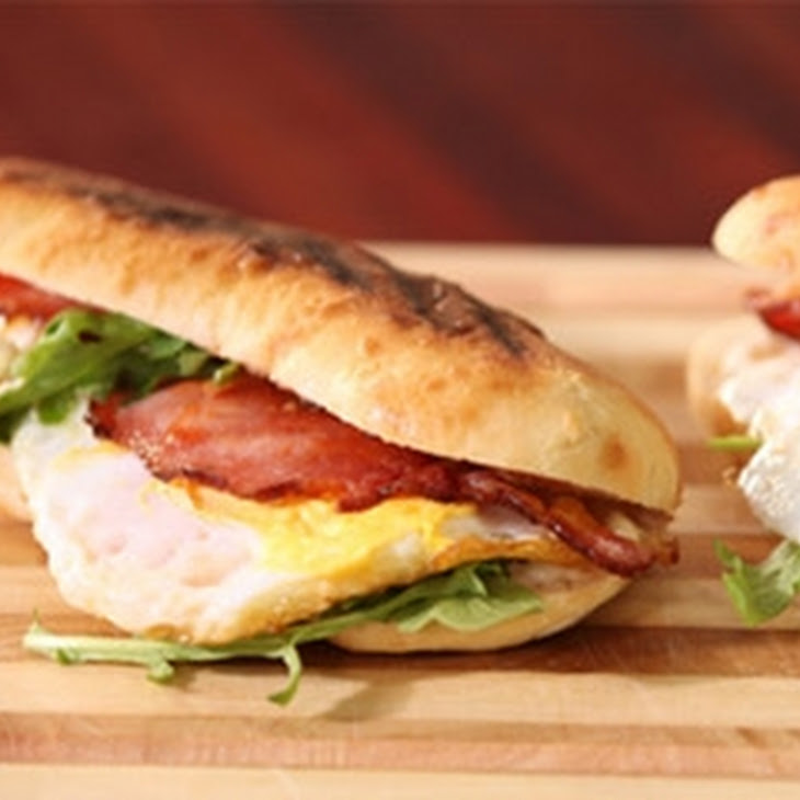 Smoky Bacon And Duck Egg Sandwich