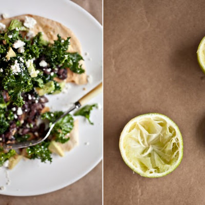 Jalapeno and Lime Marinated Kale Tostada