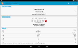 Screenshot of Mega Millions + Powerball