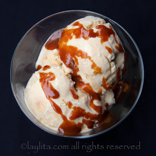Homemade Dulce De Leche Ice Cream