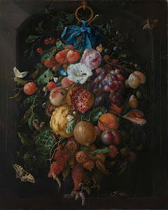 RIJKS: Jan Davidsz. de Heem: Festoon of Fruit and Flowers 1670