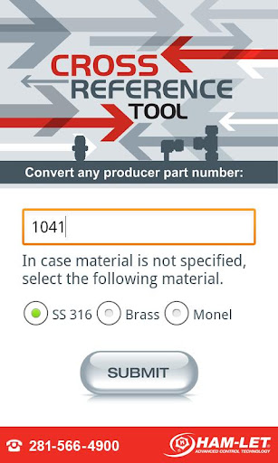 Fittings Cross Reference Tool