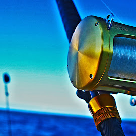 The Reel Deal by Ian Gronosky - Landscapes Beaches ( offshore, ocean, fishing, fishing reel, boat, tiagra )