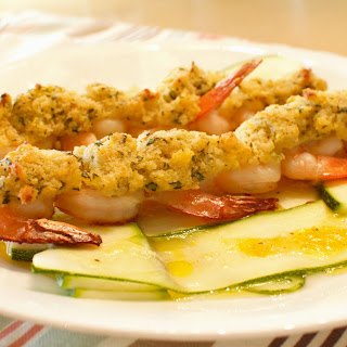 Skewered Shrimp with Lemon Zucchini