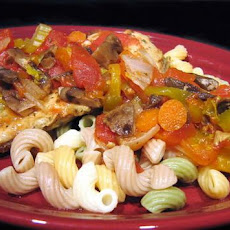 Creamy Chicken or Pork Cacciatore in Crock Pot